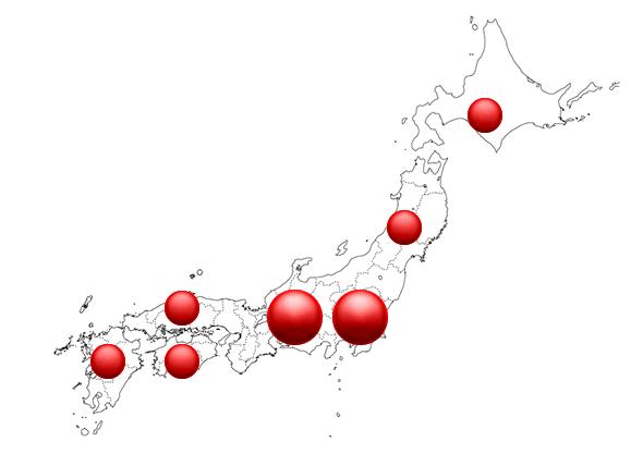 納入実績全国地図